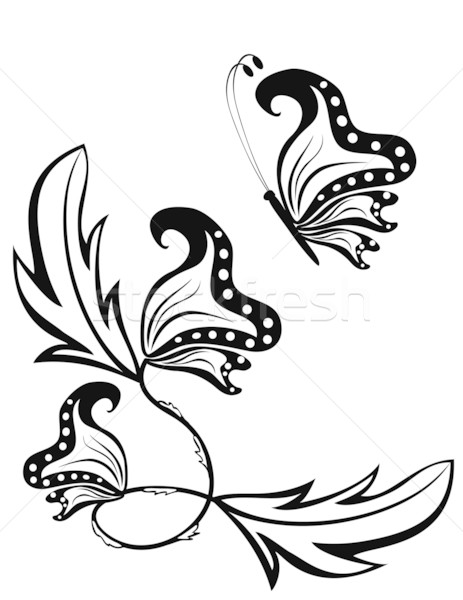 Abstract image of a butterfly on a flower Stock photo © g215