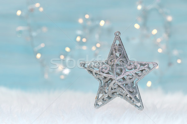 Holiday background with christmas star. Stock photo © g215