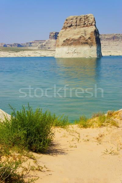 Lone Rock in Lake Powell, Page, Arizona Stock photo © gabes1976