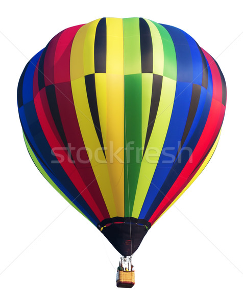 Stock photo: Colorful Hot Air Balloon Isolated on White