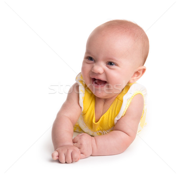 Cute baby smiling isolated on white background Stock photo © gabes1976