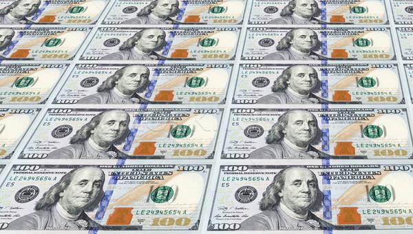 Néhány újonnan egy száz dollár bankjegyek pénz Stock fotó © gabes1976