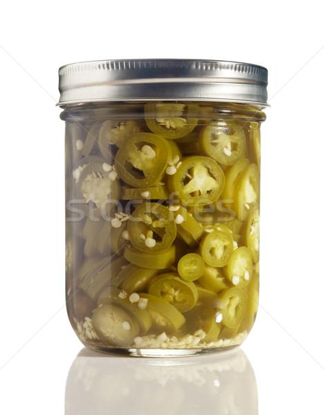 Glas jar witte vers Stockfoto © gabes1976