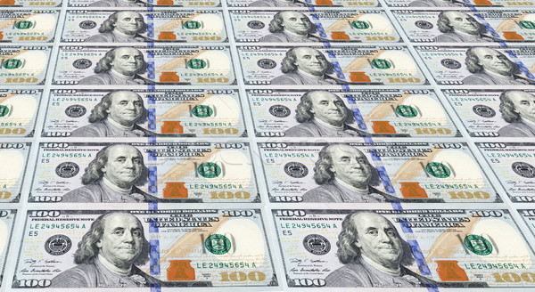 Several of the Newly Designed U.S. One Hundred Dollar Bills. Mon Stock photo © gabes1976