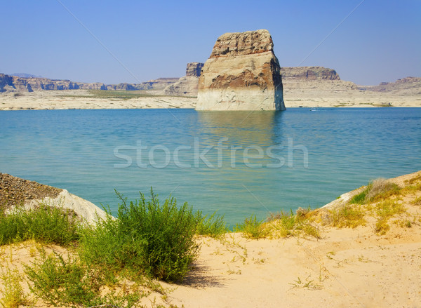 Lone Rock in Lake Powell, Page, Arizona Stock photo © gabes1976