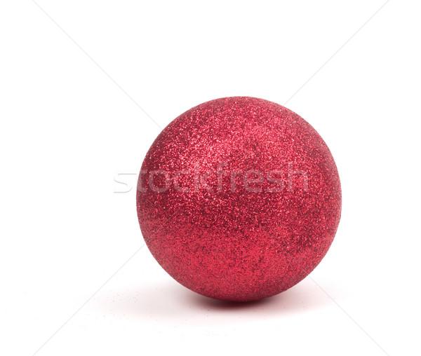 Rood christmas ornament bal witte ruimte Stockfoto © gabes1976