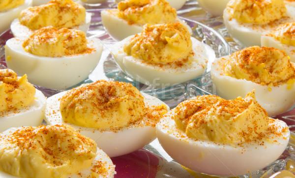 Delicious Deviled Eggs Stock photo © gabes1976