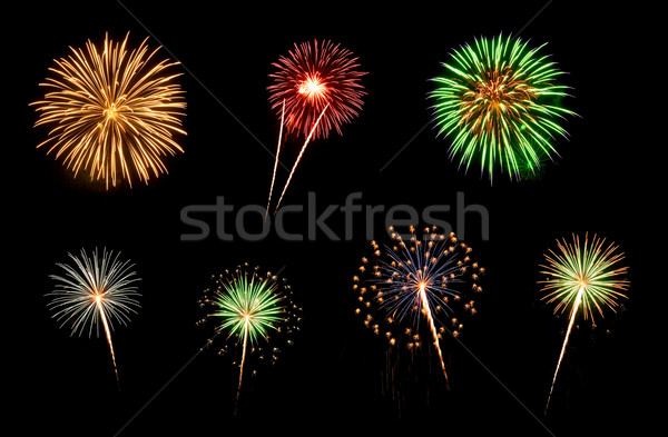 Assorted Fireworks on a Black Background Stock photo © gabes1976