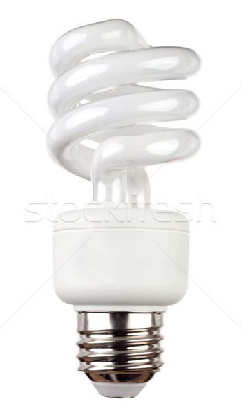 Energy saving fluorescent light bulb isolated on white Stock photo © gabes1976