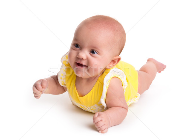Cute baby isolated on white background Stock photo © gabes1976