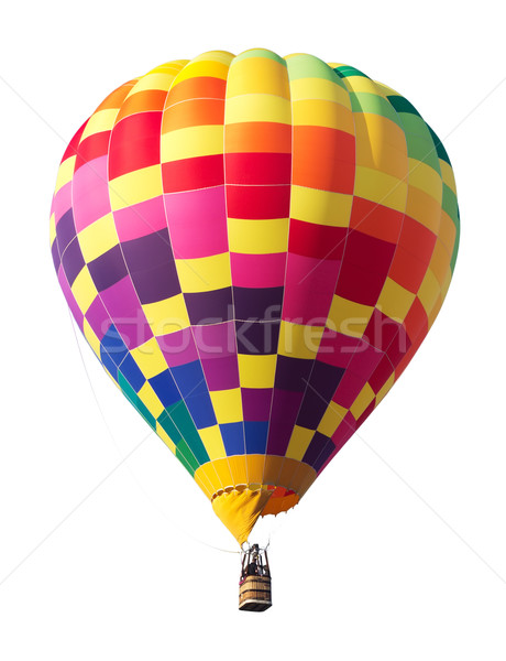 Colorful Hot Air Balloon Isolated on White Stock photo © gabes1976