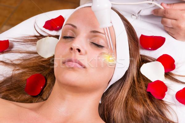 Ozon tedavi yüz kadın sağlık güzellik Stok fotoğraf © gabor_galovtsik