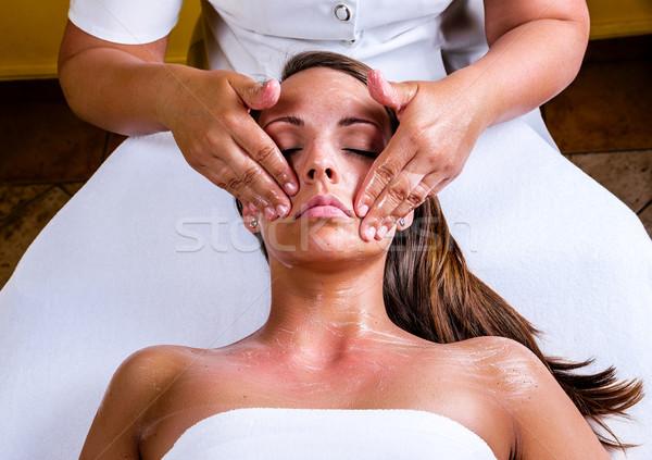 Stockfoto: Gezicht · schoonmaken · schoonheidssalon · meisje · ogen · medische
