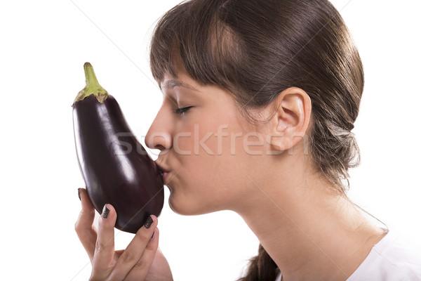 Eggplant kiss Stock photo © gabor_galovtsik