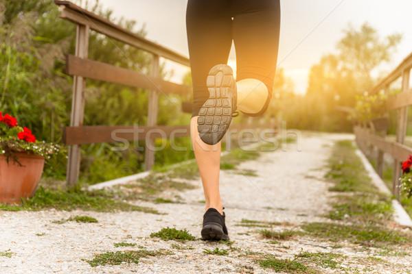 Runner woman's leg Stock photo © gabor_galovtsik