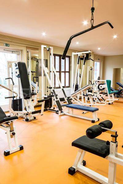 спортзал фитнес комнату интерьер мнение оборудование Сток-фото © gabor_galovtsik