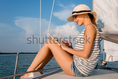 Summertime yachting Stock photo © gabor_galovtsik