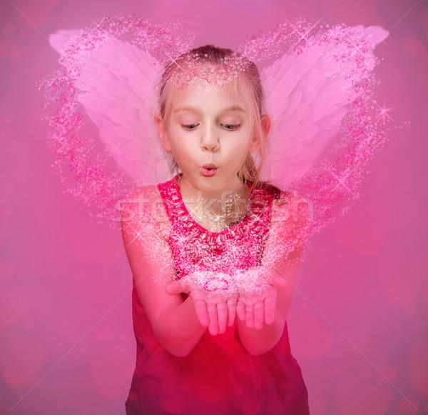 мало ангела звезды сердцах Сток-фото © gabor_galovtsik