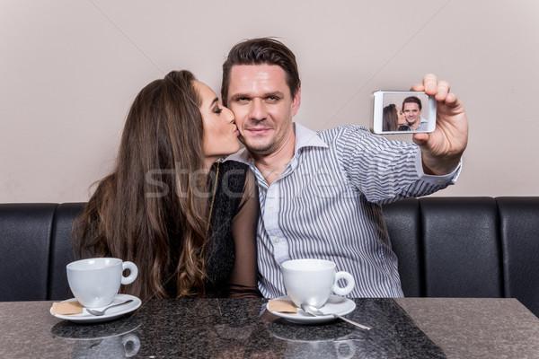 Affectueux couple internet homme modèle Photo stock © gabor_galovtsik