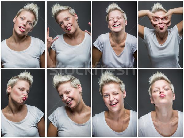 Different faces Stock photo © gabor_galovtsik