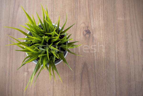 Decoratief bloem houten tafel ontwerp home achtergrond Stockfoto © gabor_galovtsik