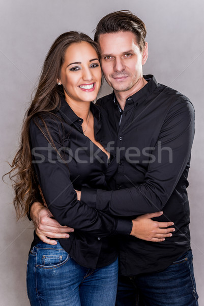 Permanent studio couple été Photo stock © gabor_galovtsik