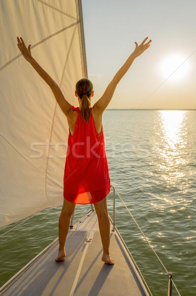 Happy woman Stock photo © gabor_galovtsik
