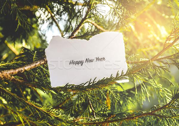 Happy New Years text Stock photo © gabor_galovtsik
