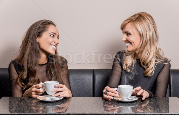Cup of coffee with friends Stock photo © gabor_galovtsik