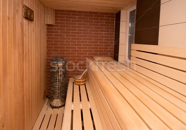 Sauna interieur licht gezondheid schoonheid Stockfoto © gabor_galovtsik