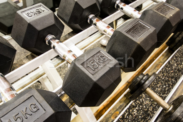 Gym and fitness room. Stock photo © gabor_galovtsik