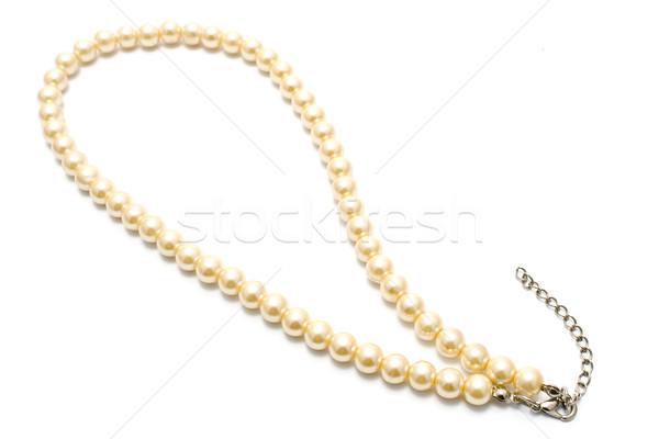 真珠 ネックレス 孤立した 白 ファッション ギフト ストックフォト © gavran333