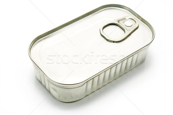 Tin kann isoliert weiß Fisch Hintergrund Stock foto © gavran333
