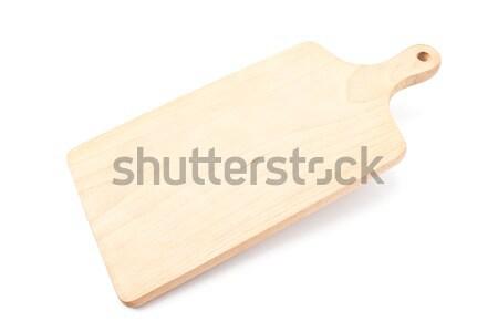 Holz Schneidebrett isoliert weiß Holz Hintergrund Stock foto © gavran333