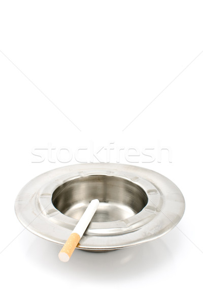 Cigarette  in  metal ashtray Stock photo © gavran333