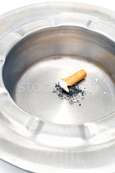 Cigarette butt in a metal ashtray Stock photo © gavran333