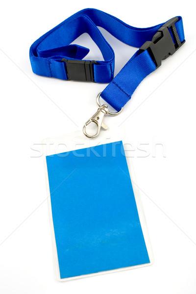 Személyi igazolvány kártya címke izolált fehér iroda Stock fotó © gavran333