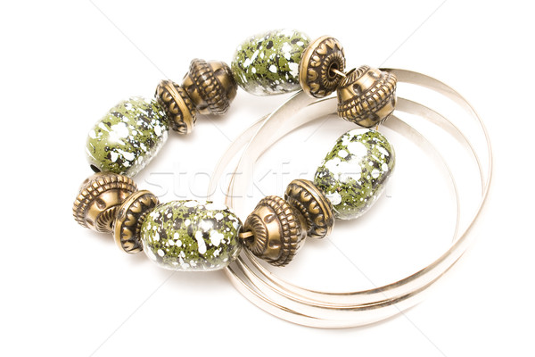 Grünen Ton Armband weiß Mode Design Stock foto © gavran333