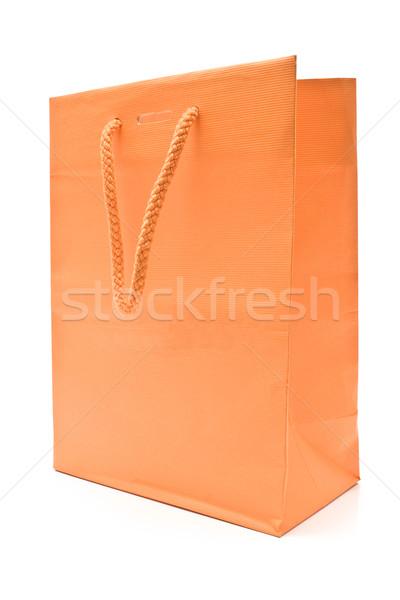 Warenkorb Papiertüte isoliert weiß Business Papier Stock foto © gavran333