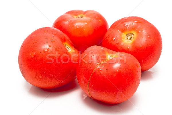Frischen Tomaten Tomaten isoliert weiß Farbe Stock foto © gavran333