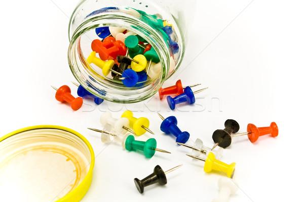 Farbenreich isoliert weiß Business Hintergrund Stock foto © gavran333