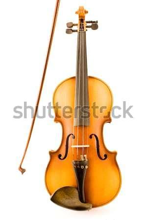 Alten Violine Bogen isoliert weiß Holz Stock foto © gavran333