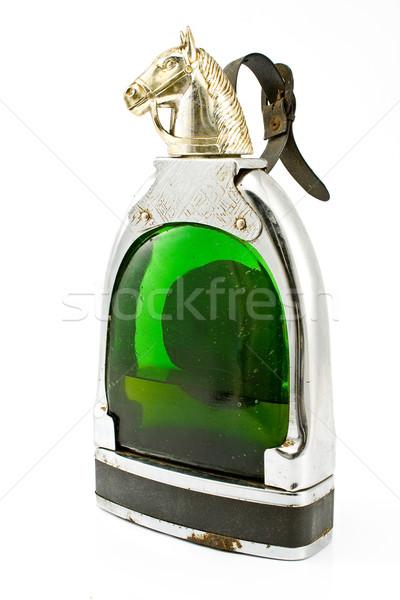 Vieux bouteille cognac isolé blanche vin Photo stock © gavran333