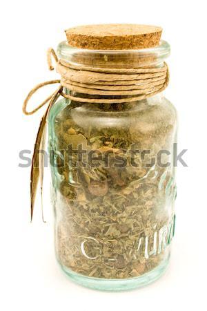 スパイス ガラス ボトル 孤立した 白 自然 ストックフォト © gavran333
