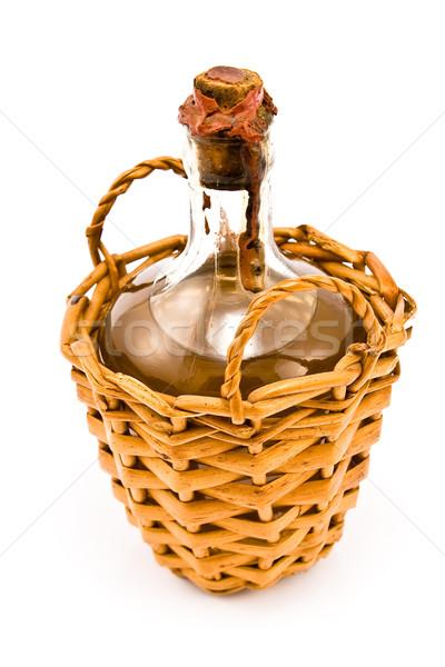 Velho garrafa vinho branco isolado branco vinho Foto stock © gavran333