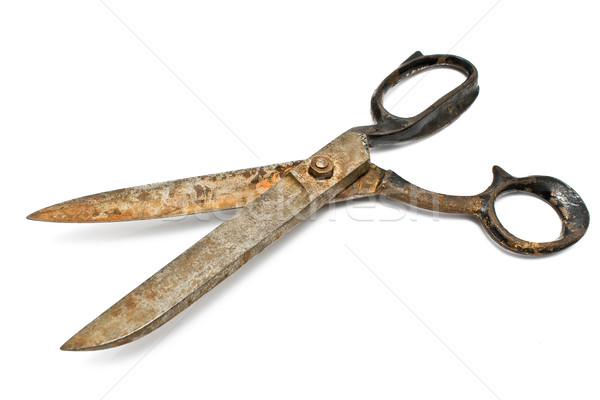 Old rusty sewing scissors Stock photo © gavran333