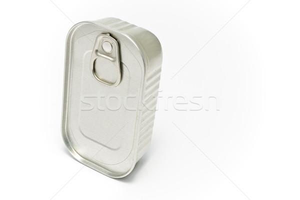 Estanho lata isolado branco peixe fundo Foto stock © gavran333