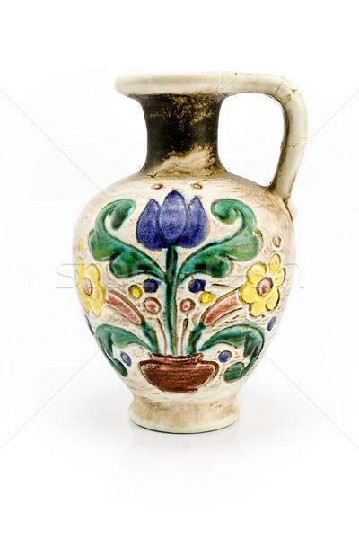古い 花瓶 孤立した 白 花 美 ストックフォト © gavran333