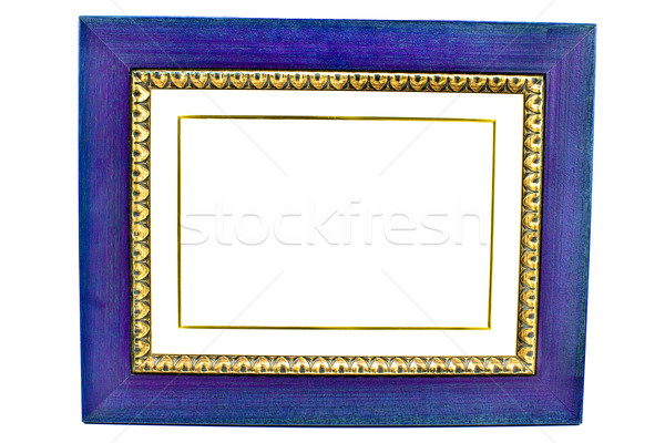пусто синий фоторамка древесины металл Сток-фото © gavran333