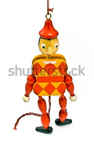 Mechanische Spielzeug Seil isoliert weiß Geschenk Stock foto © gavran333